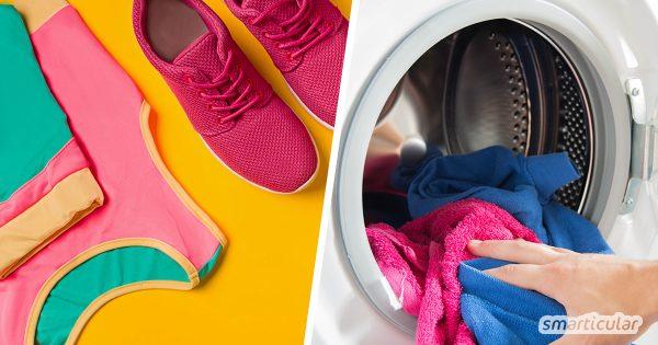 Um Sport- und Funktionskleidung ein langes Leben ohne Schweißgeruch zu ermöglichen, kannst du sie mit Hausmitteln umweltfreundlich und schonend waschen.