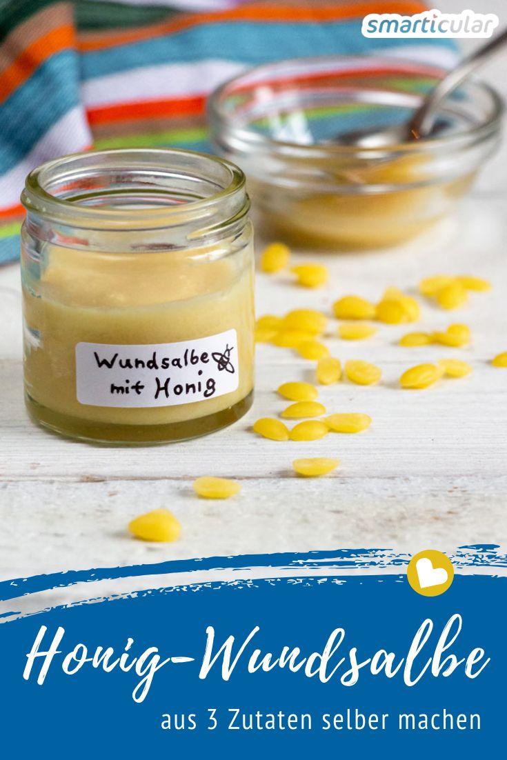 Aus naturbelassenem Honig, Pflanzenöl und Bienenwachs lässt sich eine heilsame Wundsalbe herstellen - eine Wohltat für gereizte Haut und empfindliche Babypopos.