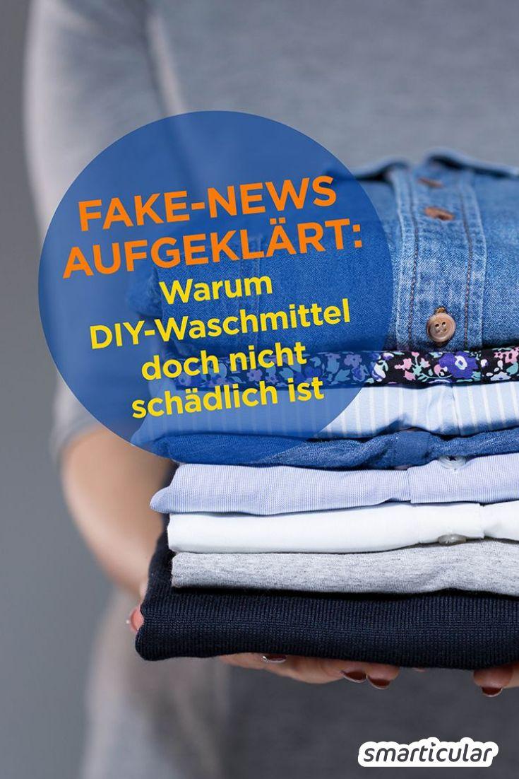 Selbst gemachtes Waschmittel ist angeblich schlecht für die Wäsche und die Waschmaschine? Wir haben die Fake-News unter die Lupe genommen - hier sind die Fakten!