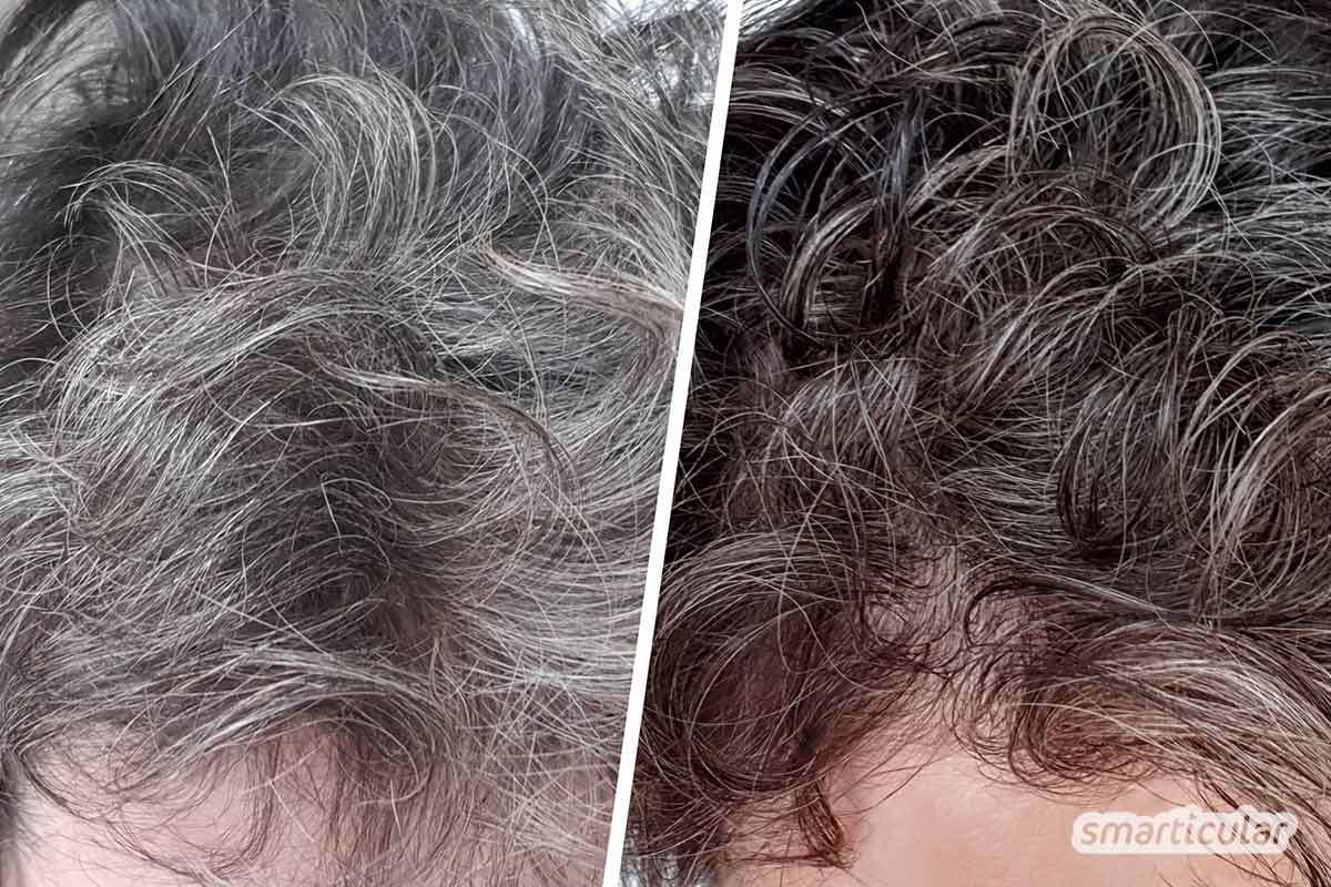 Haarfarbe braun grau
