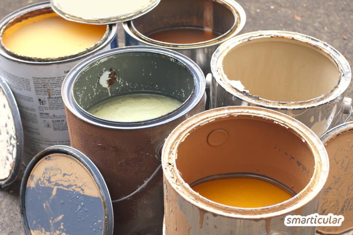 Auch im Haushalt fällt viel Sondermüll an, der umwelt- und gesundheitsschädigende Substanzen enthält unddeshalb nicht in die Restmülltonne gehört. Hier erfährst du, wie haushaltsübliche Abfälle richtig entsorgt werden.
