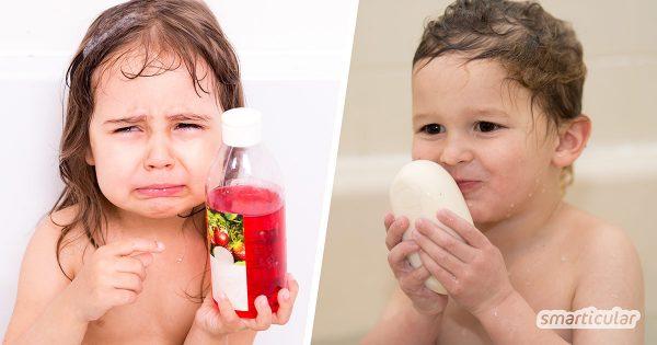 Bei Analysen werden in Kinderduschgels immer wieder fragwürdige und sogar gesundheitlich bedenkliche Inhaltsstoffe gefunden. Mit diesen Alternativen duscht dein Kind sicher und schadstofffrei!
