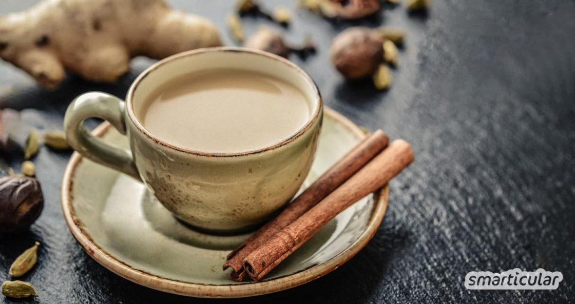 Yogi-Tee ist eigentlich gar kein Tee, sondern eine leckere Gewürzmischung. Hier erfährst du, wie du ihn auf Vorrat zu Hause selbst herstellen kannst.
