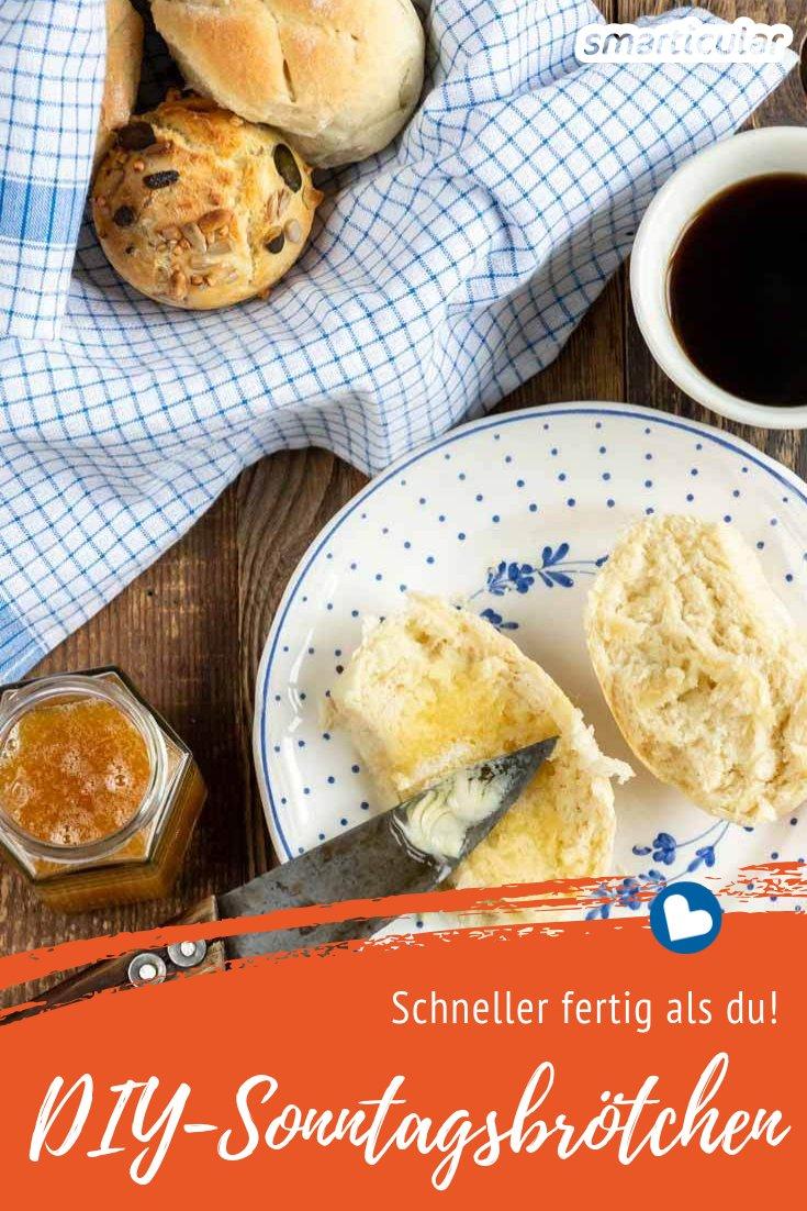 Fürs Sonntagsfrühstück zum Bäcker gehen? Oder etwa früh aufstehen und aufwendig selber backen? Nicht nötig mit diesen drei Varianten für schnell und einfach selbst gemachte Brötchen.
