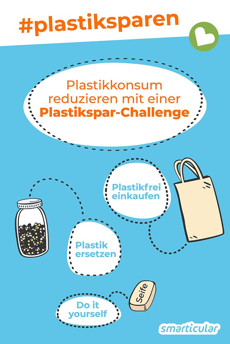 Möchtest du gern deinen Plastikverbrauch reduzieren, weißt aber nicht so recht, wie du das anstellen sollst? Dann ist eine Plastikspar-Challenge genau das Richtige für dich!
