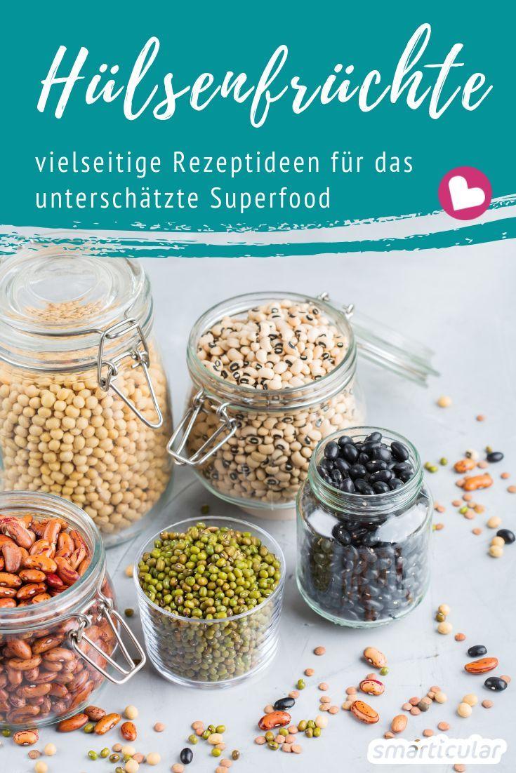 Hülsenfrüchte sind eiweißreich und gesund, in unserer Küche aber kaum verbreitet. Mit diesen Rezepten bringst du die vitalstoffreichen Eiweißbomben mit wenig Aufwand häufiger auf den Tisch.
