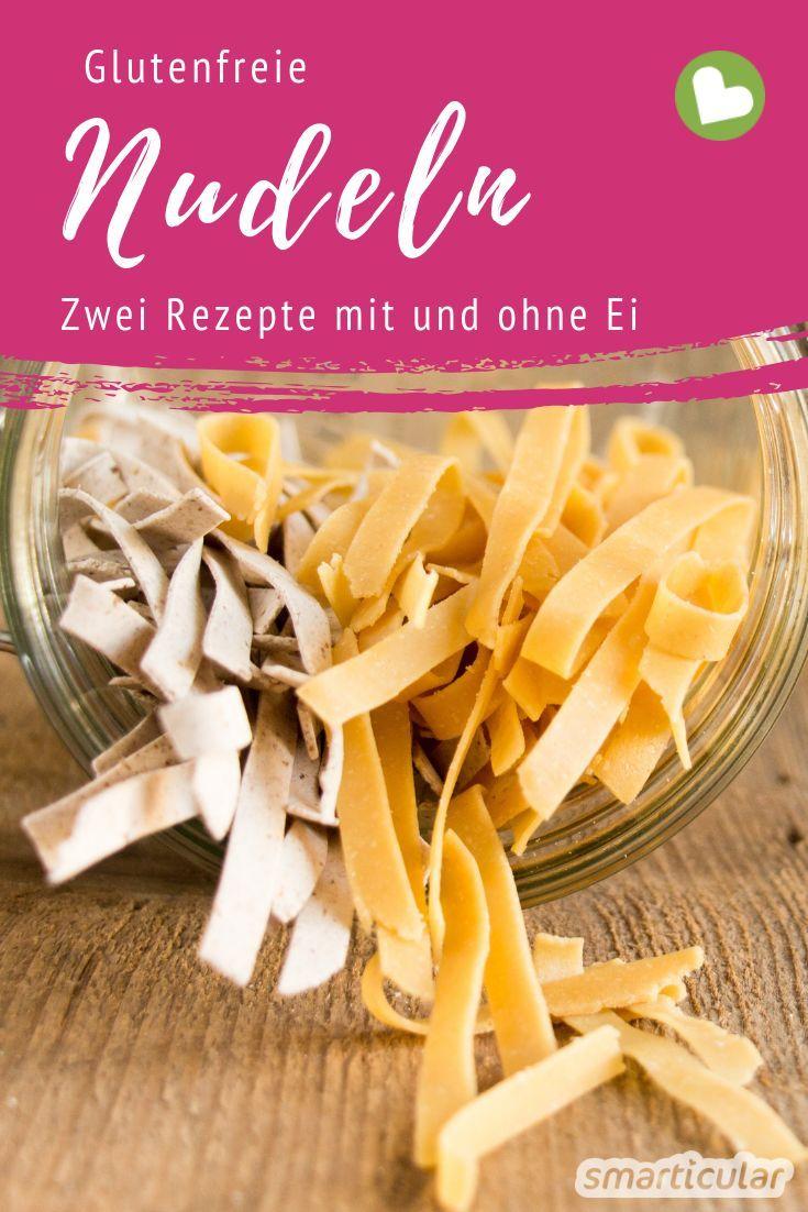Glutenfreie Nudeln selbst herzustellen, ist nicht schwer. Du kannst sie ganz einfach nach deinem Geschmack aus verschiedenen Mehlsorten zaubern - mit und ohne Ei.