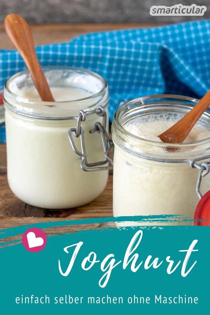 Stichfester oder cremiger Joghurt lässt sich mit dieser Methode ganz einfach selber machen - ohne Joghurtmaschine. Dabei kannst du außerdem Verpackungsmüll und Geld sparen.