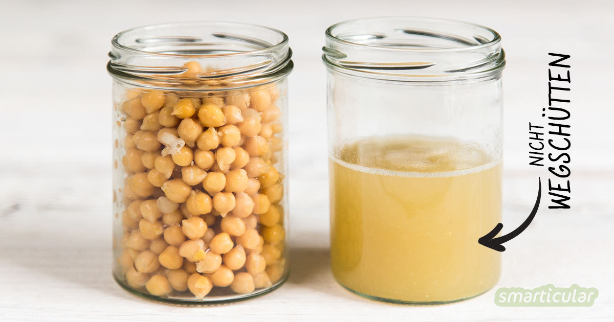 Aus Kichererbsenwasser lassen sich viele Leckereien herstellen, zum Beispiel Mayonnaise, süße Cremes und Baiser. Viel zu schade zum Wegwerfen!
