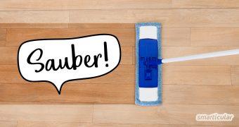 Mit einfachen Hausmitteln kannst du alle Fußböden reinigen - mehr ist fast nie notwendig. Mit Tipps für die Reinigung von Holz-, Naturstein-, Laminat- und anderen gängigen Bodenbelägen.