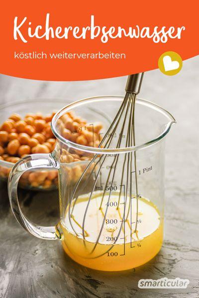 Kichererbsenwasser lässt sich für Mayonnaise, Mousse und viele andere Köstlichkeiten weiterverwenden. Deshalb ist es viel zu schade um es wegzuschütten!