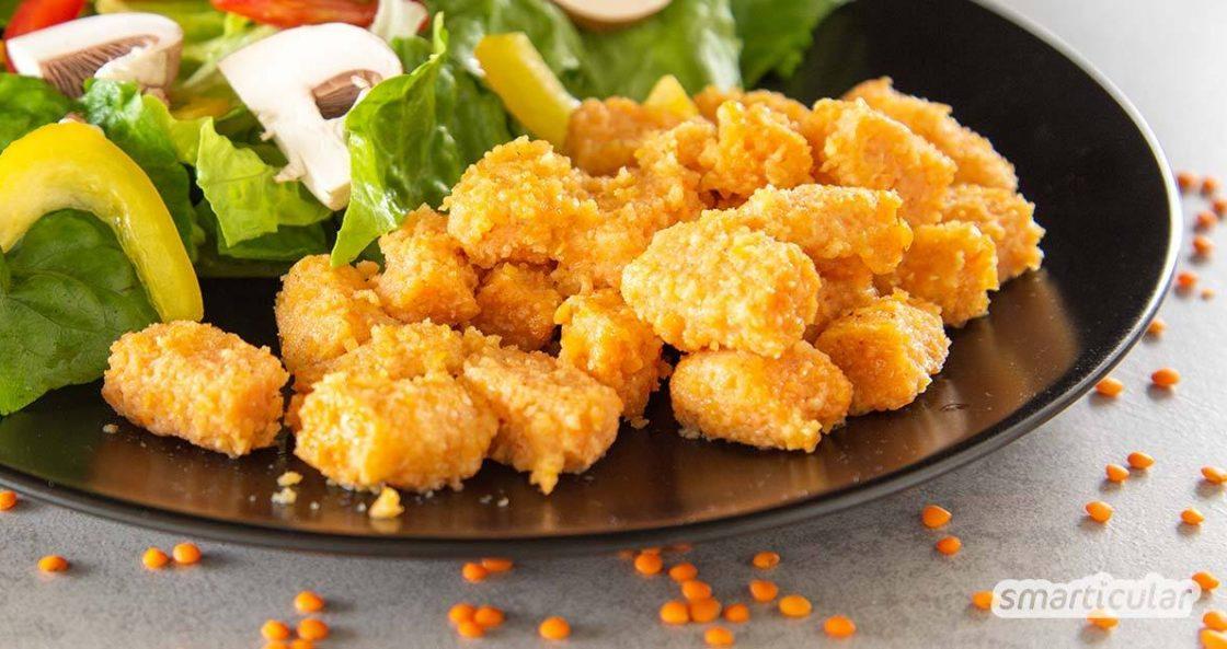 Linsentofu ist eine ideale Soja-Alternative - einfach zuzubereiten und eine köstliche Beilage für Salate und Gemüsegerichte. Mit Rezept und Zubereitungs-Tipps.
