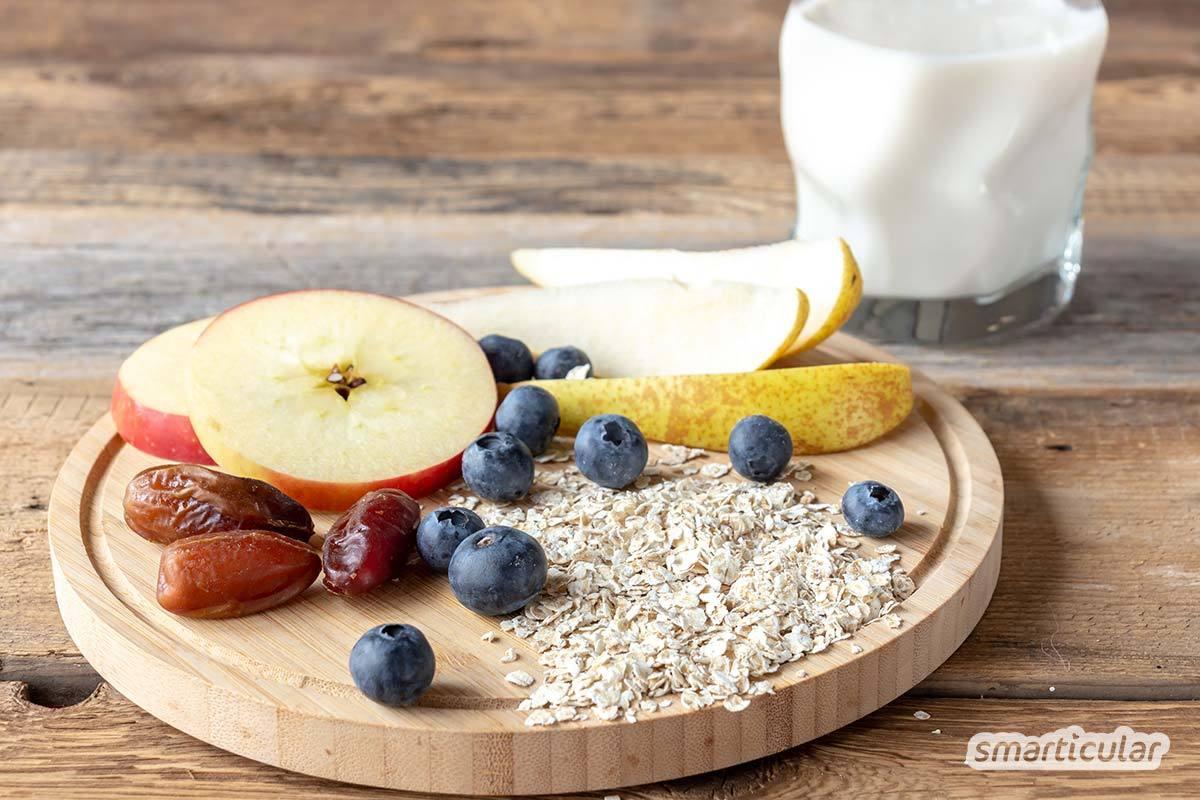 Ein selbst gemachter Frühstücksdrink ist eine ideale Kombination aus vitalstoffreichem Smoothie und gehaltvollem Müsli. Eiweißreich, ballaststoffreich oder vitaminreich - 3 Rezepte für Müslidrinks!