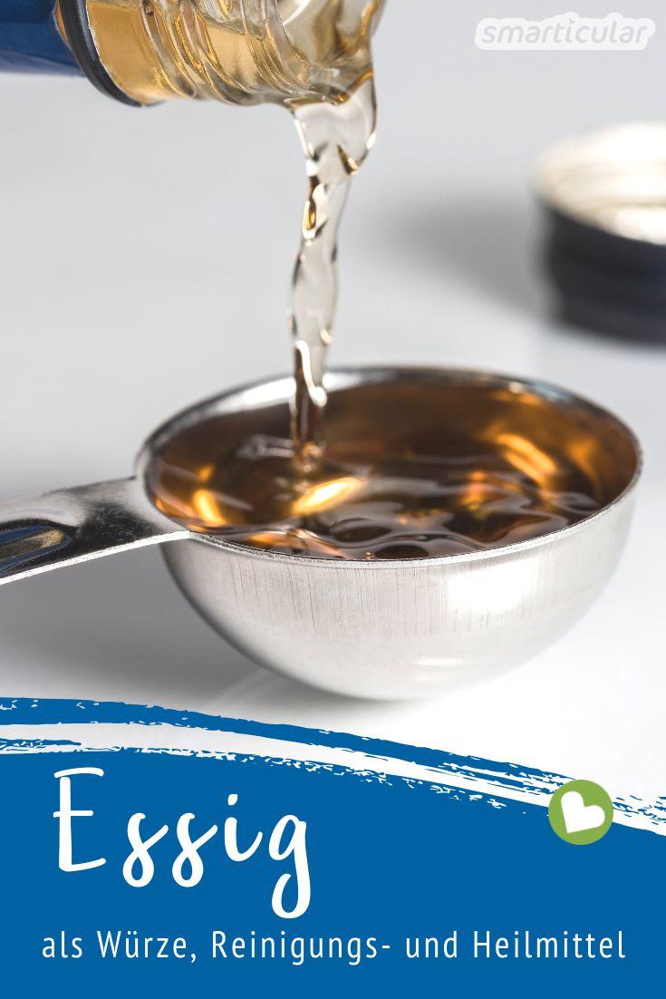 Essig kann man für die unterschiedlichsten Zwecke verwenden. Welche Essigsorte sich am besten als Würze, als Reinigungsmittel und Entkalker oder für die Gesundheit eignet, erfährst du hier.