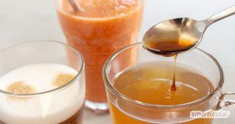 Chai-Sirup kannst du ganz einfach selber machen! Dein Lieblings-Gewürzsirup für Chai Latte und viele andere Getränke ersetzt spielend konventionelle Fertigprodukte.
