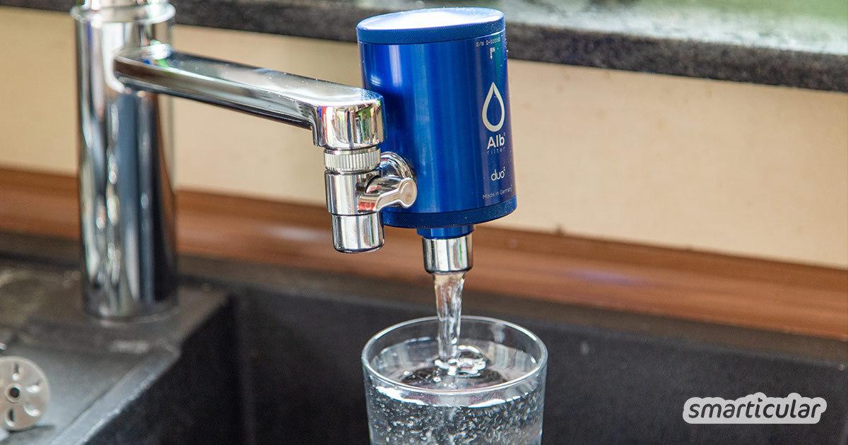 Ein Alb Wasserfilter sorgt für reines Trinkwasser direkt aus dem Wasserhahn, das frei von bedenklichen Stoffen wie Arzneimittelrückständen, Pestiziden und Mikroplastik ist.