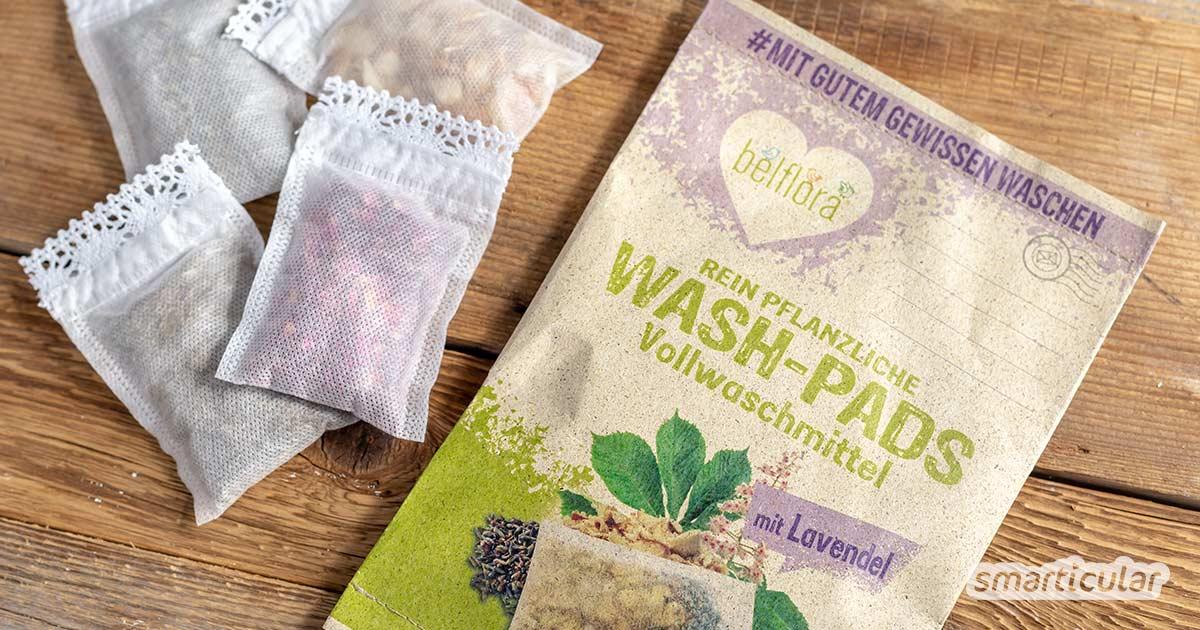 Bio-Waschmittel aus Kastanien lässt sich zwar leicht selbst herstellen. Als umweltfreundliche Alternative beispielsweise zu Waschnüssen kann man Kastanien-Waschmittel jetzt aber auch kaufen - in Form kleiner Wash-Pads von belflora.