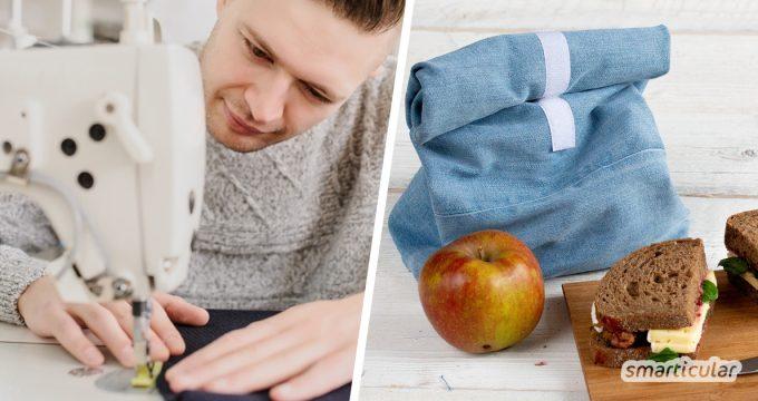 Wer etwas aufwendigere Nähprojekte wie einen Lunchbag, waschbare Binden oder eine Upcycling-Schalmütze angehen möchte, findet hier wichtige Tipps und einfache Anleitungen.