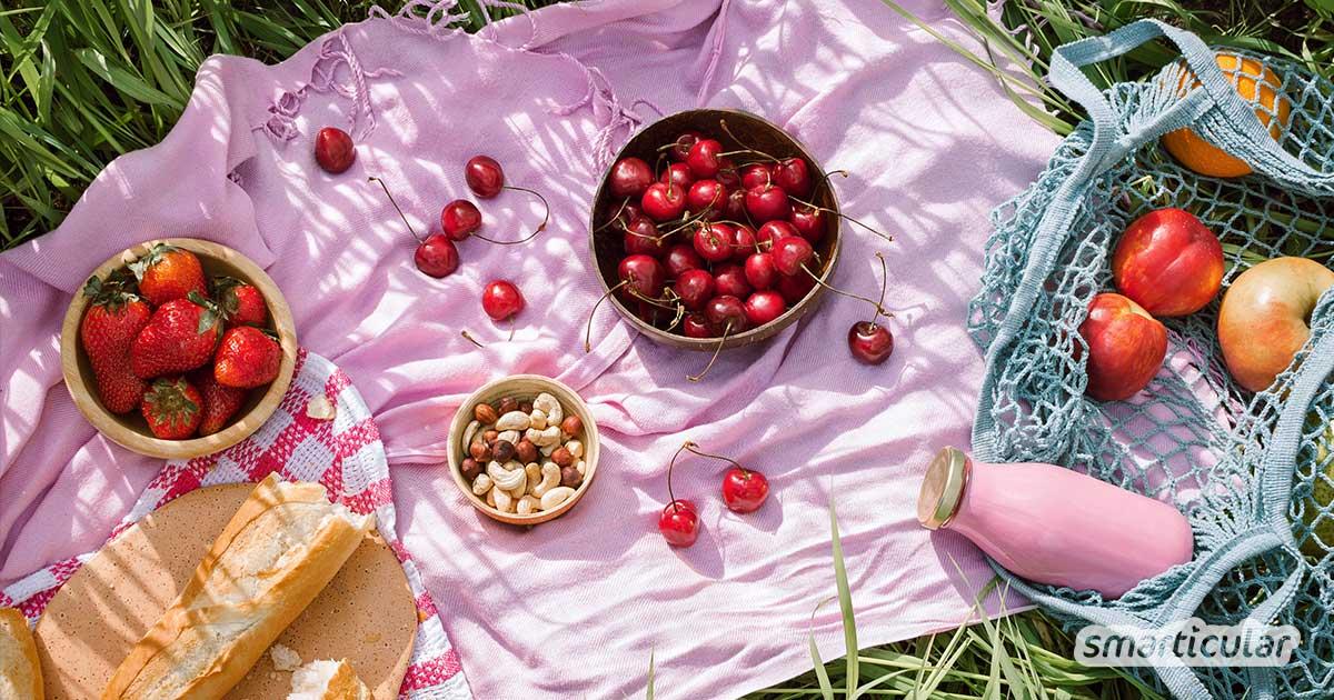 Ein plastikfreies Picknick ist einfacher zu gestalten, als du vielleicht denkst. Herzhafte Küchlein direkt im Glas gebacken oder geschmierte Brote in Lunchboxen aus Edelstahl machen es möglich.