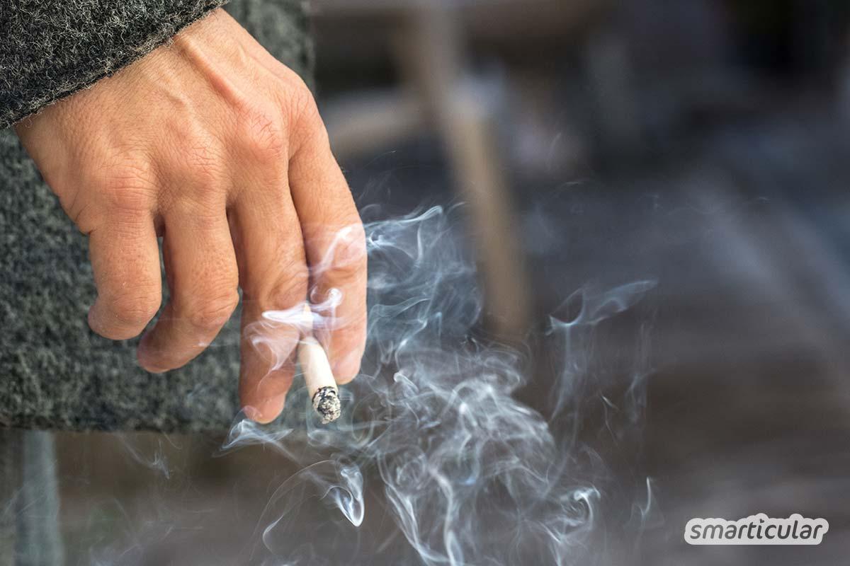 Gerüche kann man ganz einfach mit Essig neutralisieren. Mit dem natürlichen Hausmittel entfernst du nicht nur unangenehme Gerüche in der Wohnung, sondern auch Knoblauchgeruch an den Händen.