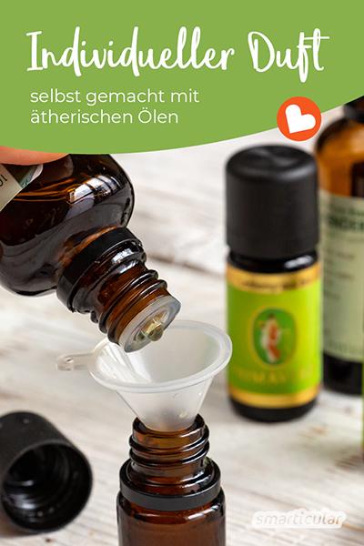 Mit einer Duftmischung aus ätherischen Ölen lassen sich Pflegeprodukte und Waschmittel beduften. Wer dafür eine individuellen Note bevorzugt, kann anhand dieser Anleitung eine ganz persönliche Lieblingsmischung kreieren.