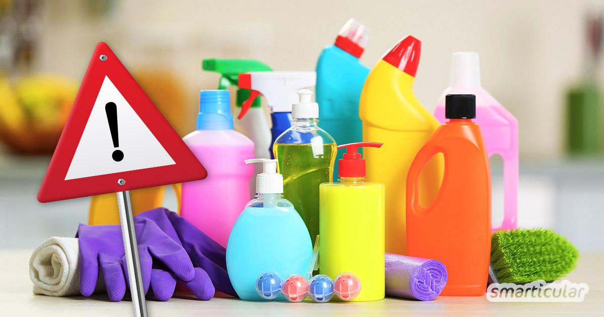 Wasch- und Putzmittel enthalten zahlreiche Inhaltsstoffe, die die Umwelt und Gesundheit schädigen. So kannst du sie erkennen und vermeiden.