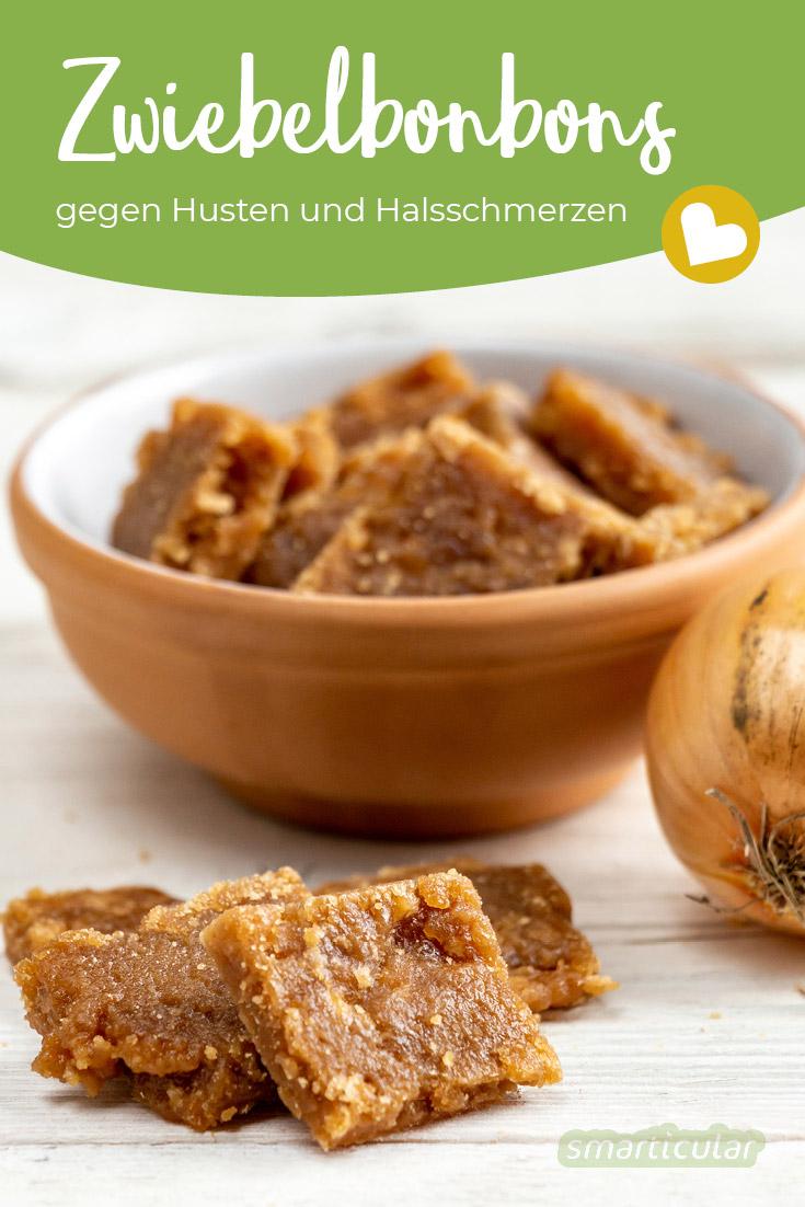 Hustenbonbons selber machen mit Zwiebeln: Diese Zwiebelbonbons sind in der Erkältungszeit eine leckere und effektive Alternative zu Lutschtabletten.