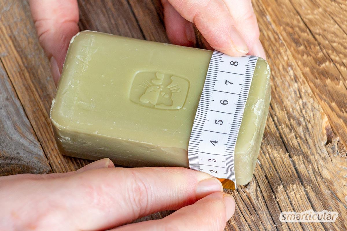 Seifensäckchen selber machen aus Baumwollgarn-Resten: Der weiche Hautschmeichler ist auch von Anfängern schnell gestrickt.