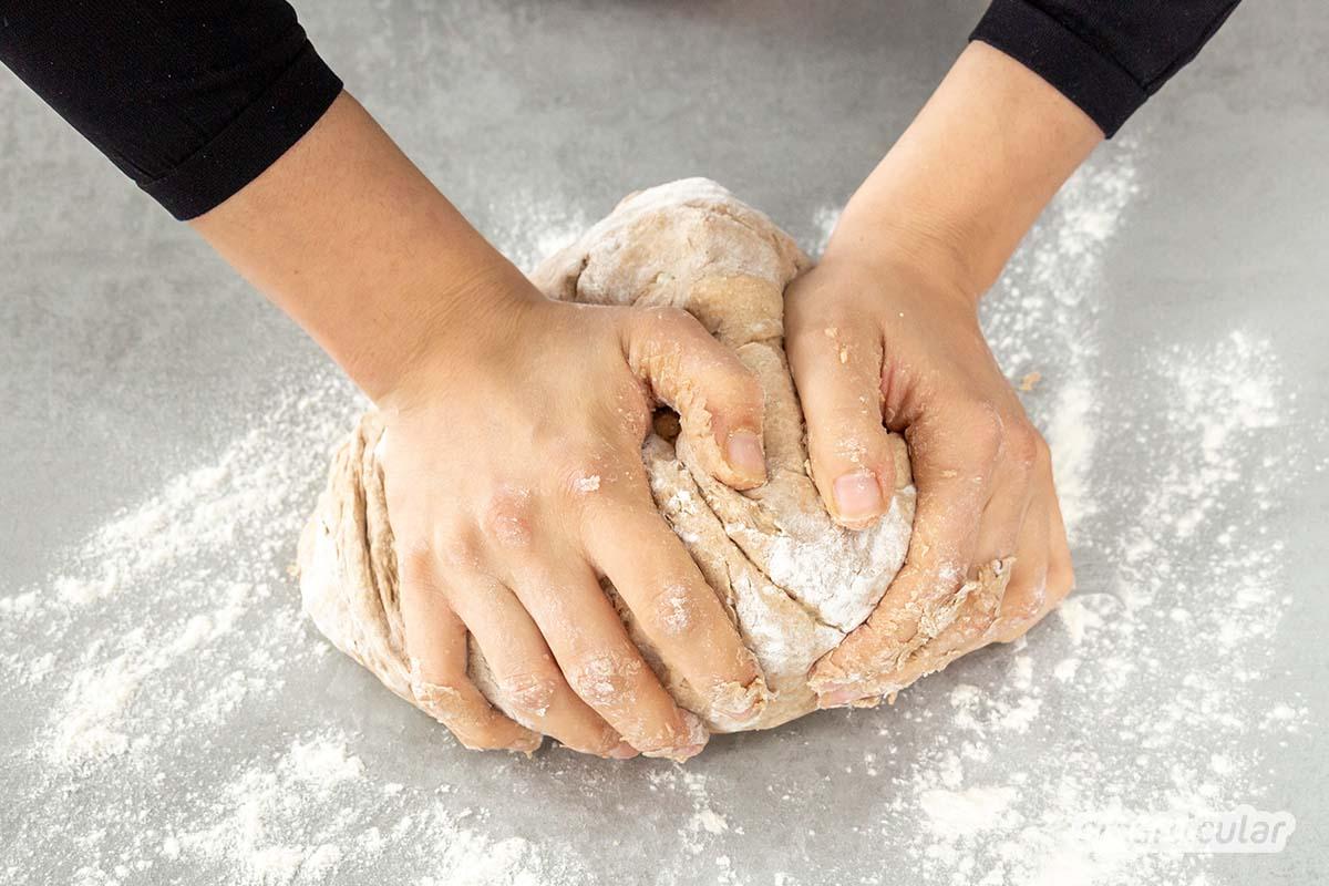 Statt Aufbackbrötchen aus dem Supermarkt zu kaufen, kannst du sie auch selbst auf Vorrat backen, einfrieren und bei Bedarf schnell aufbacken und genießen.