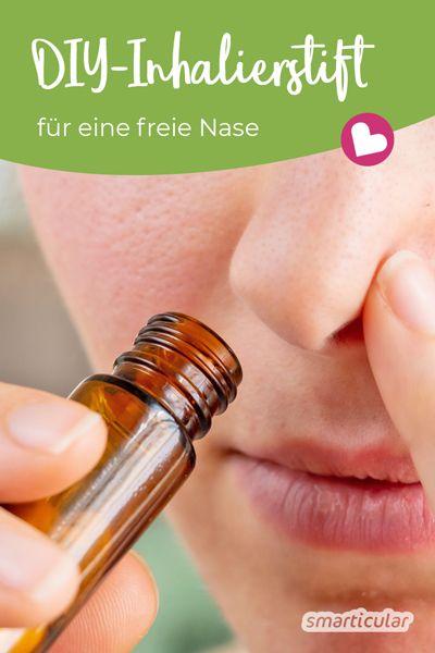 Ein Inhalierstift hilft, um auch unterwegs bei leichter Erkältung eine freie Nase zu haben. Mit ätherischen Ölen lässt er sich ganz leicht selbst befüllen.