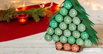Für einen Adventskalender aus Klorollen braucht es nicht viel Zubehör und auch nicht viel Zeit. So geht Weihnachten Zero Waste!
