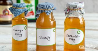 Essig lässt sich aus fast jedem Alkohol selber machen - solange es schmeckt! So entstehen unter anderem Bieressig, Liköressig und Sherryessig.