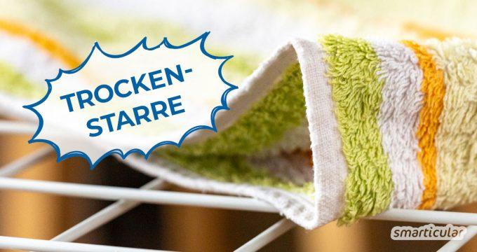 Endlich wieder weiche Wäsche: Mit ein paar Tricks lassen sich harte Handtücher ganz einfach vermeiden. Und das, ohne bedenkliche Weichspüler zu verwenden.