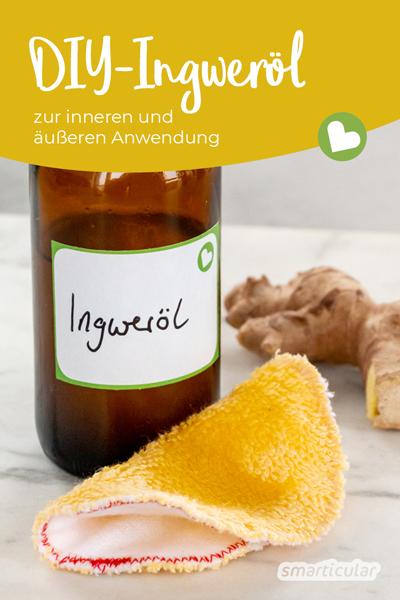 Ingweröl versorgt durch innere und äußere Anwendung Körper, Haut und Haar mit wichtigen Nährstoffen und regt die Zellregenerierung an.