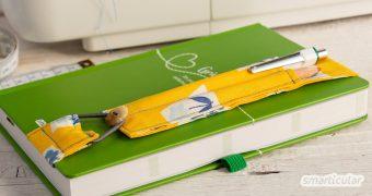 Ein selbst genähter Stiftehalter sorgt dafür, dass du immer alle Stifte dabei hast, um deinen Kalender oder Jahresplaner zu führen.