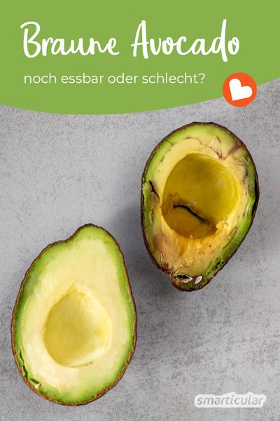 Wenn eine Avocado innen braune Stellen aufweist, muss sie nicht unbedingt schlecht sein. Hier erfährst du, wann du sie noch essen kannst und wann sie schlecht ist.