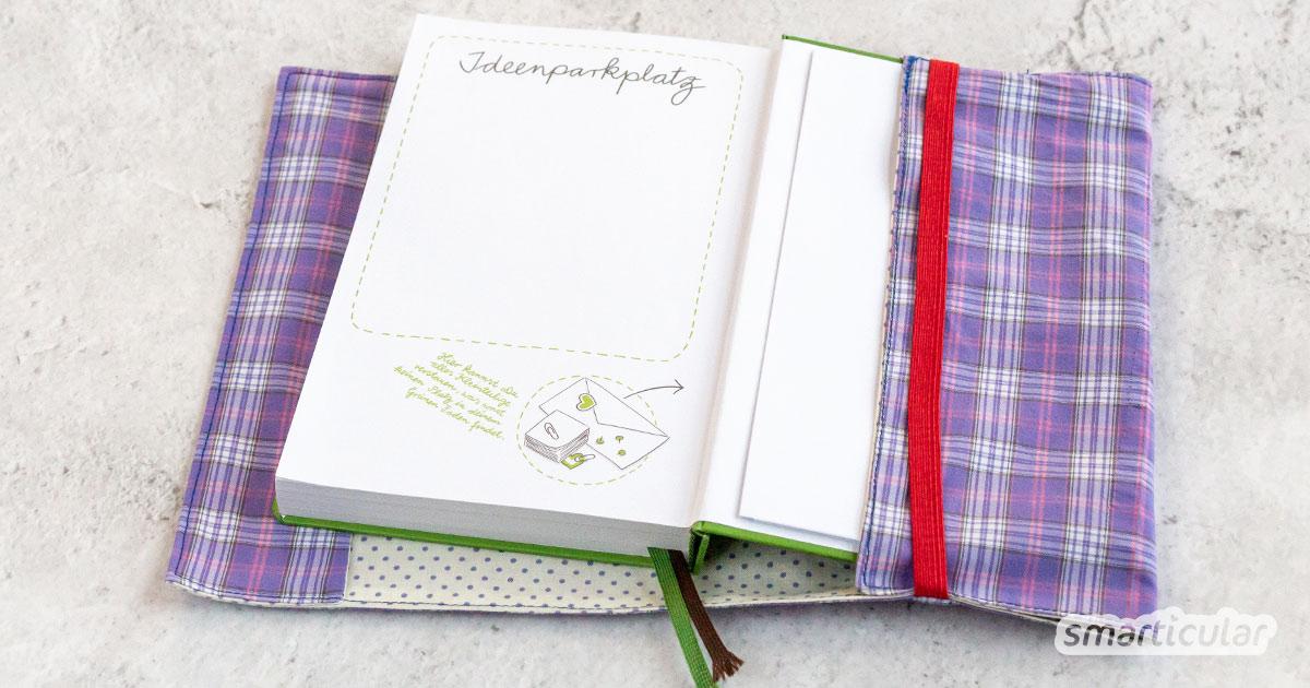 Eine Buchhülle schützt dein Buch oder deinen Kalender vor Schmutz und Schäden und verbirgt den Titel vor fremden Blicken. Dieser variable Einband lässt sich für unterschiedlich dicke Bücher verwenden.