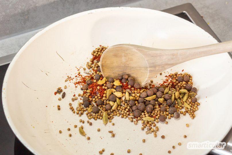 Currysauce selber machen und flexibel verwenden: Mit diesem Konzentrat auf Vorrat zauberst du ruckzuck die besten Soßen - nicht nur für Currywurst.
