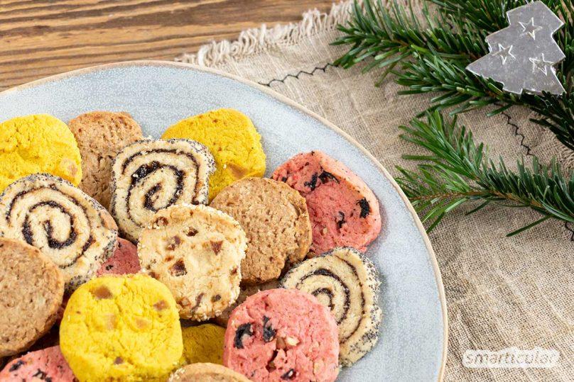 Nur einen Teig zuzubereiten und viele verschiedene Plätzchen daraus backen zu können, das muss kein Weihnachtsmärchen bleiben. Mit diesem Keksrollen-Rezept klappt's!