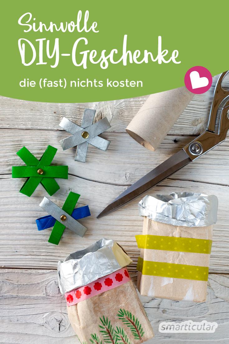 Nachhaltige Geschenke müssen nicht teuer sein! Mit diesen originellen Geschenkideen, die fast nichts kosten, schonst du deinen Geldbeutel und die Umwelt.