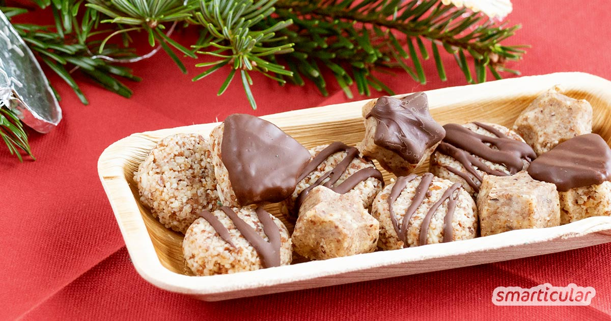 Gesunder Genuss statt zuckerhaltiger Kalorienbomben auf dem Weihnachtsteller? Mit diesem Rezept für Plätzchen ohne Backen genießt du die Weihnachtszeit ohne Reue!