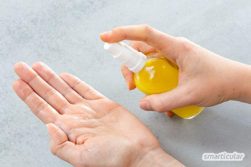 Aus nur zwei Zutaten kannst du im Handumdrehen eine Pflegelotion herstellen, die genau zu deinen Hautbedürfnissen passt. Die Zubereitung geht blitzschnell - einfüllen, schütteln, fertig!