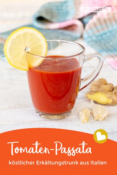 Eine Tomaten-Passata ist lecker und gesund: Das aromatische Heilmittel aus Italien stärkt das Immunsystem und hilft effektiv gegen Erkältungen.