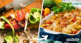 Zur Resteverwertung von Gemüse und Obst ist ein Auflauf besonders gut geeignet, denn darin lassen sich die unterschiedlichsten Zutaten kombinieren - sowohl herzhaft als auch süß.