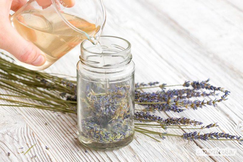 Tinkturen sind eine wirkungsvolle Möglichkeit, die heilenden Inhaltsstoffe der Pflanzen zu konservieren. Das geht auch ganz ohne Alkohol, mit einer selbst gemachten Essigtinktur!