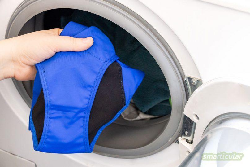 Periodenunterwäsche verrutscht nicht, bietet hautfreundlichen Schutz und kann jede Menge Einwegbinden einsparen. Hier findest du die wichtigsten Infos und Tipps zur Mehrweg-Alternative!