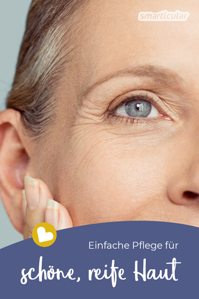 Reife Haut lässt sich mit natürlichen Hausmitteln einfach schön pflegen. Falten und Cellulite werden mit hochwertigen Pflanzenölen und weiteren Komponenten gemildert.