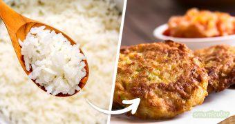 Übrig gebliebener Reis lässt sich vielfältig verwerten - ob als herzhafte Hauptmahlzeit oder als süßes Dessert. Mit diesen Rezepten gelingt die Resteverwertung garantiert!