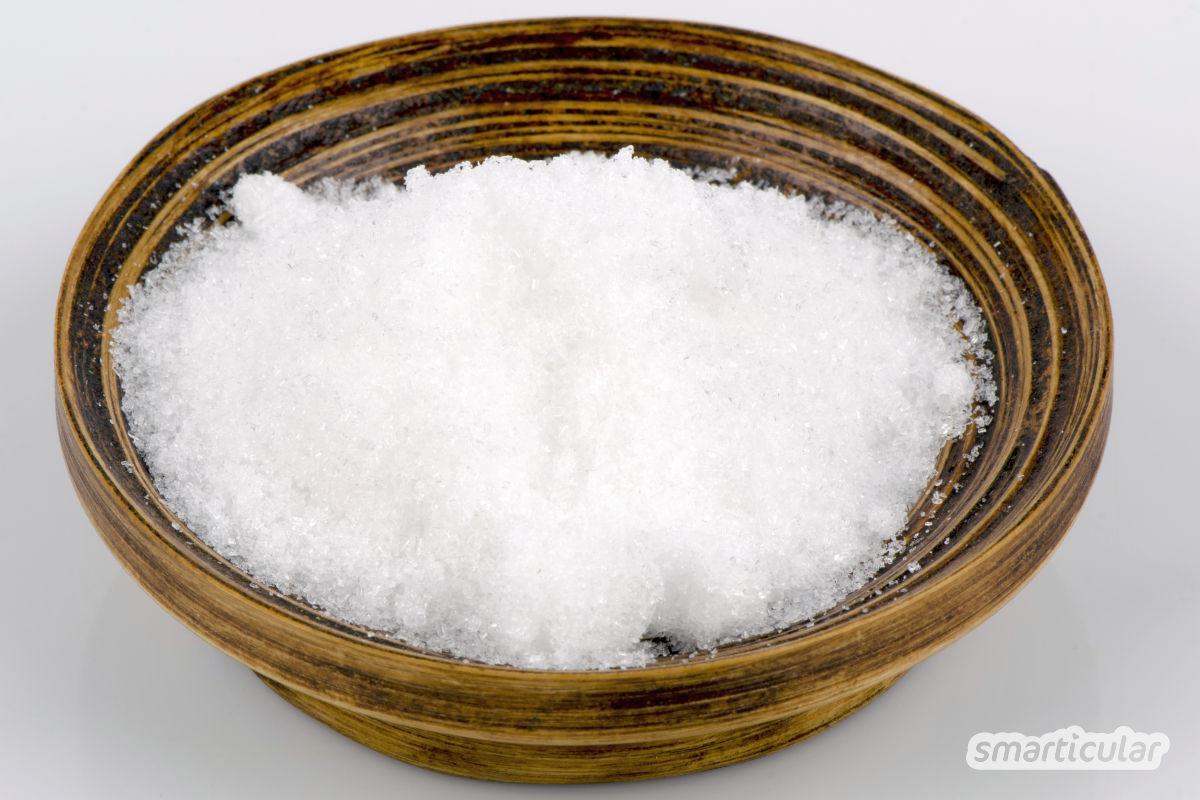 Natron, Bittersalz, Glaubersalz, Borax, Soda, Salz: Hier erfährst du die wichtigsten Unterschiede zwischen diesen verschiedenen Hausmitteln.