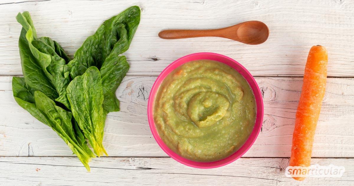 Babybrei mit saisonalem Gemüse ist besonders vitalstoffreich. Mit diesen Rezepten mit Frühlingsgemüse isst dein Baby regional und gesund.